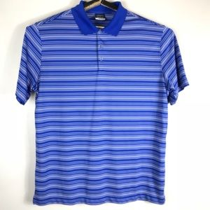 Nike Golf Mens XL Blue/White Striped Shirt